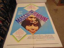 MASCULINE FEMININE 1966 JEAN PIERRE LEAUD JEAN LUC GODARD 1-SHEET POSTER N7093