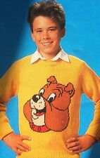 "Spike Bulldog  Jumper from ""Tom & Jerry""  Knitting Pattern (child & adult size )"