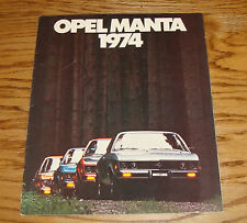 Original 1974 Opel Manta Sales Brochure 74 Luxus Coupe Rallye Sportwagon