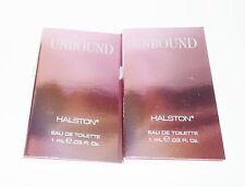 2 HALSTON Unbound Eau de Toilette Sample Vial