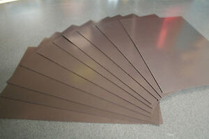 10 x 1mm x A4 Magnetic Magnet Sheets (Plain Front) Blank Craft Fridge Flexible