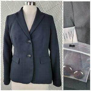 New Talbots Blazer Suit Jacket size 6 Petite Stretch Career Professional Black