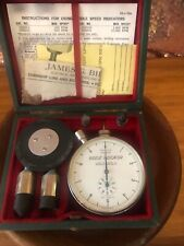 Vintage Machinists Tool BIDDLE  10,000 rpm DIAL SPEED INDICATOR SET In Box