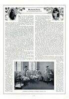 Mutterschutz Bericht von 1910 2 XL Seiten 3 Abb. Mutterschutzgesetz Eltern Baby