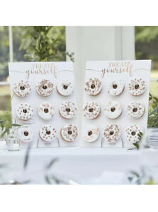 Rose Gold Copper Foiled Botanical Double Donut Wall | Food Display Centrepiece