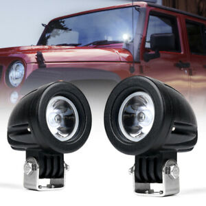 Xprite 2pcs Spot CREE LED Light Off road Round Work Lamp For Truck 4WD ATV 4X4