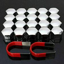 20 PCS 21mm Chrome ALLOY WHEEL BOLT COVERS CAPS UNIVERSAL FOR/ FIAT MAZDA COLORA
