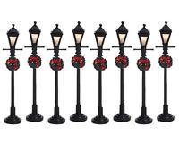 Lemax Dekoration, Gas Laterne Straßenlampe, Weihnachten beleuchtet Satz von 8