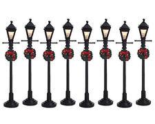 LEMAX Decoración, Gas Linterna Lámpara de calle, decoración de Navidad, Iluminado Juego de 8