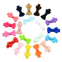 20PCS Baby Girls Toddler Mini Hair Clips Bowknot Hairpin Headwear Candy Colors