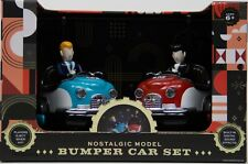 FAO Schwarz Nostalgic 2 Red & Blue Bumper Car Set Remote Control NIB