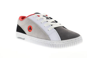 Airwalk The One Suede TRI Mens Gray White Skate Sneakers Shoes