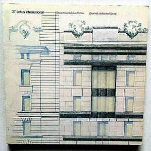 Lotus international n. 37 1983 Rivista Architettura Adolfo Natalini Aldo Rossi