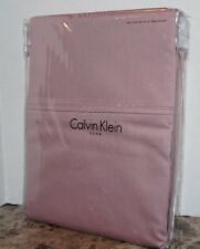 Calvin Klein 100% Combed Cotton 2 STANDARD PILLOW CASES French Mauve 320tc