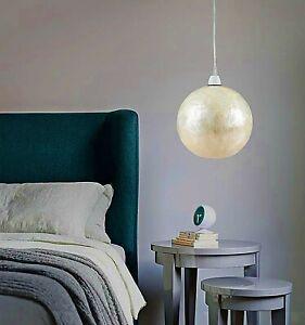 20cm Capiz Ball Shade In Shinny White Bedroom Bathroom Corridor Lampshade