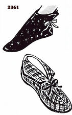 Felt SLIPPER Shoe Vintage Bootie Slippers Fabric Sewing Pattern MO # 2361