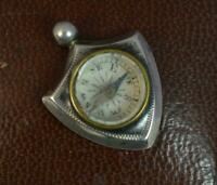 1895 Victorian Solid Silver Shield Shaped Compass Fob Pendant