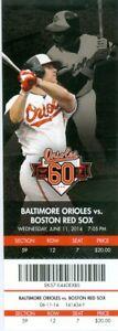 2014 Orioles vs Red Sox Ticket: Chris Davis HR/Wei-Yin Chen win