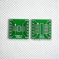 20pcs SO/SOP/SOIC/SSOP/TSSOP/MSOP 14 to DIP Adapter PCB Board Converter Arduino