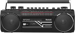 reproductor de cassette usb mp3 bluetooth radio am fm AUX TF SD portatil 12in