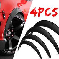 4X Universal Car Fender Flare Extension Wheel Eyebrow Protector Arch Trim