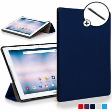 Navy Blue Folding Smart Case Cover Acer Iconia One 10 B3-A30 with Free Stylus