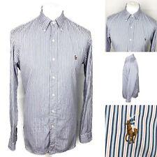 """RALPH LAUREN Striped Shirt Size 16.5""""/35 Mens Custom Fit Long Sleeve Button Down"""