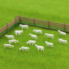 Model Train 100pcs 1:150 Unpainted White Farm Animals Cows N Scale Architectural