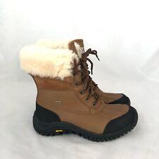 UGG Australia Adirondack Woman's  Black & Brown Sheepskin  Waterproof Snow Boots