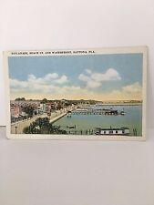 Vintage Esplanade, Beach St. and Waterfront, Daytona Beach, Florida Postcard