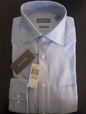 Michael Kors Men's Dress Shirt Regular Fit Medium Blue 15 1/2 34/35 New
