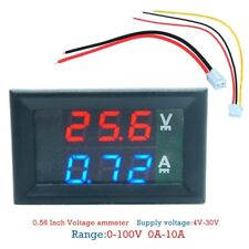 DC100V 10A Digital Voltmeter Ammeter Panel Amp Volt Voltage Current Meter Tester