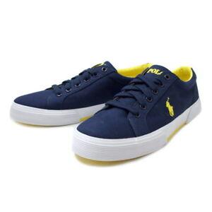 NIB Polo Ralph Lauren Men Felixstow Navy Canvas Sneakers Shoes sz 8 M/D