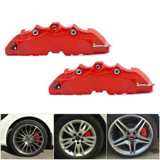 Car Wheel Brake Caliper Cover Front Rear Decorative Dust Resist Protection Red