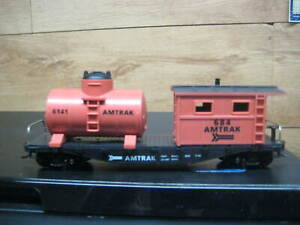 HO MODEL POWER 40' WORK CABOOSE WITH TANK & KNUCKLE COUPLERS # 98181