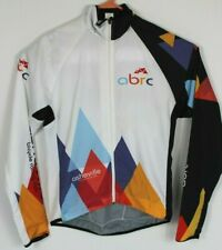 Sugoi Mens M ABRC Asheville Bicycle Racing Club White Cycling Jacket Lightweight