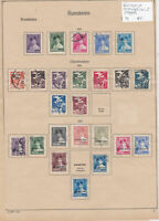 Romania Stamps on 2 Pages Ref: R6856