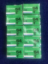 10 Rolls Fujichrome 64 T Expired 1/89 Rtp 135-36 Refrigerated