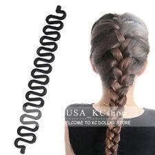 New 2 PCS Accessories Women Magic Hair Braid Clip Styling Stick Bun Maker Tool