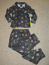 Boys NBC Sleepwear Size Small Gray Logo Long Sleeve Pant Pajamas