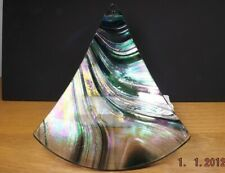 ART GLASS ASH CATCHER FROM CANADA  TRIANGLE 5 3/4 X6 1/2 INCHES AS PICTURED[36]