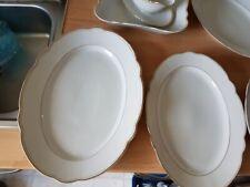 Sauciere 4 Fleischplatten Servierplatten 1 eckige Schüssel Goldrand Mitterteich