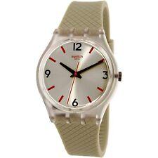 Swatch Women's Originals GE247 Beige Rubber Swiss Quartz Fashion Watch