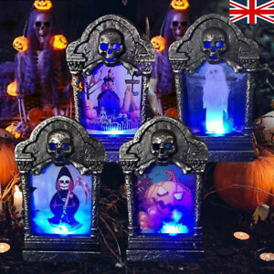 4x Halloween LED Light Up Tombstone Outdoor Party Game Horror Props Decorations