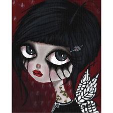 Ryle by Dottie Gleason Big Eye Fairy EMO Girl Wall Picture Unframed Canvas Art