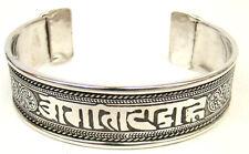 Om Mani Padme Hum Mantra Sanskrit Yoga Healing Tibetan Silver Bangle Bracelet