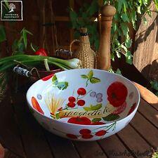 grand peinte à la main Céramique Saladier Bol de salade 35cm! Bol