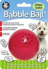 Pet Qwerks Animal Sounds Babble Ball Interactive Dog Toy size medium