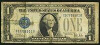 1928-B $1 Silver Certificate FR#1602 Funnyback Experimental XB Block X07756501B