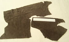 DARK BROWN CALF SUEDE LEATHER REMNANTS - REPAIRS, ELBOW PATCHES,TOYS  #2508